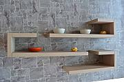 VE.CA-ITALY SET 3 MENSOLE DESIGN SHELVES TIFFANY IN LEGNO DI ALTA QUALITA' MADE IN ITALY REGAL ROVERE ROCK