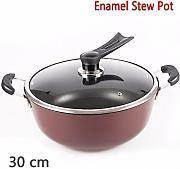 xiangyan ghisa ferro acciaio smaltato stufato pentola in acciaio piatto per fornelli a gas e piano