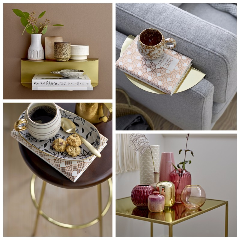 L'oro è di tendenza e il design contemporaneo lo propone in