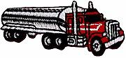 (Tank Lolly B/Red) Working Car Iron Patch (Large)