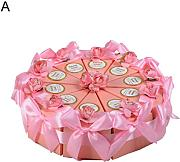 10 pz creative rose Flower Bow Triangle cake