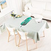 140*100 cm verde Checker Leaf scandinavo moderno