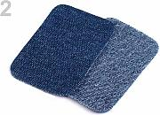 1bag 2 Blu Denim Ferro-on Patch 7.6x4.9 Cm,