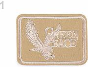 1pc 1 Beige Ferro Sulla Patch, Applique Abiti,
