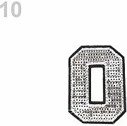"1pc 10""0"" Argento di Ferro-on Patch Numeri"