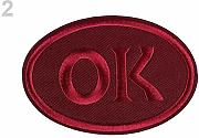 1pc 2 Luce Vino Rosso di Ferro-on Patch Ok,