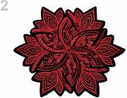 1pc 2 Rosso di Ferro-on Patch di Fiori Con