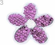 1pc 3 Viola chiaro Ferro-on Patch di Fiori Con