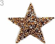 1pc 3gold Ferro da stiro-su Applique Con Strass,