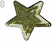 1pc Verde Lime Ferro Onpatch Stelle, Paillettes