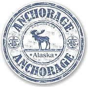 2 x 10cm/100 mm Anchorage in AlaskaAdesivo per