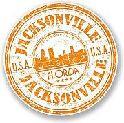 2 x 10cm/100 mm Jacksonville in Florida USAAdesivo