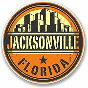 2 x 15cm/150 mm Jacksonville in Florida USAAdesivo