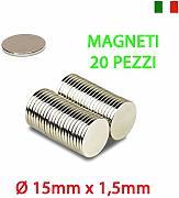 30 MAGNETI NEODIMIO 10X1,5 MM CALAMITA POTENTE FIMO CERAMICA MAGNETE CALAMITE
