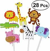 28 pezzi Woodland Animals Cake Topper Decorative