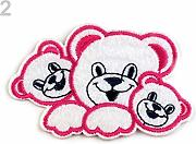 2pc 2 Lampone Ferro Sulla Patch Orsi, Applique