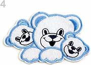 2pc 4 Baby Blue Ferro Sulla Patch Orsi, Applique