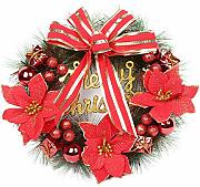 30cm / 12inch Christmas Wreath Front Door Wall
