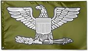 384 Garden Flag Army Colonel Rank Flag Navy Green