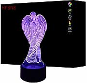 3D Angelo Night Light Lamp 7 Cambiamento di Colore