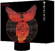 3D Aquila e il Cranio Night Light Lamp 7