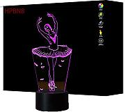 3D Balletto Night Light Lamp 7 cambiamento di