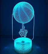 3D Basket Night Light Lamp 7 Cambiamento di Colore