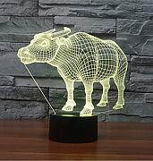 3D Buffalo Night Light Lamp 7 cambiamento di