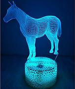 3D Cavallo Night Light Lamp 7 cambiamento di