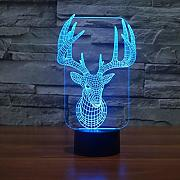 3D Cervo Night Light Lamp 7 cambiamento di colore