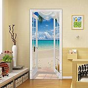 3D Door Stickers for Interior Doors Sea View