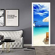 3D Door Stickers for Interior Doors Seaside