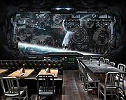 3D Fashion Restaurant Murale Cool Bar Wallpaper