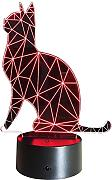 3D Gatto Night Light Lamp 7 cambiamento di colore