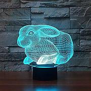 3D Illusion Lamp Night Light Baby Kids Simpatico
