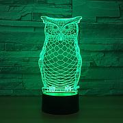 3D Luce notturna Owl Animal Lamp Night USB