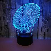 3D Rugby Night Light Lamp 7 Cambiamento di Colore