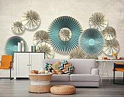 3D Wallpaper - 3D Stereo Nordic Simple Round -