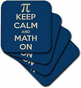 3dRose CST 159554 _ 3 Keep Calm And Math on.