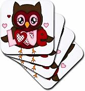 3dRose CST 211151 _ 3 Cute Red & Brown Owl