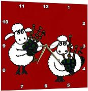 3dRose Funny Sheep Playing Bagpipes - Orologio