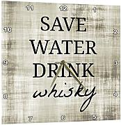 3dRose Save Water Drink Whisky - Orologio da