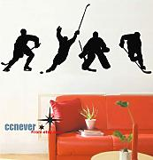4 Hockey Player Sport Gioco rimovibile Graphic Art