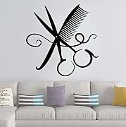 42X42Cm Barbiere Colorato Wall Art Sticker Adesivi