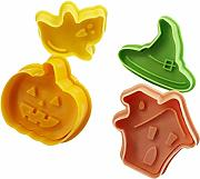 4pcs 3D Cookie Cutter Molud Natale zucchero Craft