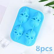 4pcs Stampo in silicone a forma di teschio in 3D,