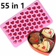 55 Slot Silicone Love Heart Shape Ice Cube