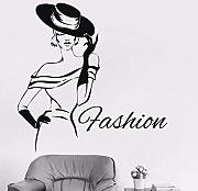57X57Cm Lady Fashion Girl Design Vinile Sticker