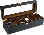 6 Grid Watch Storage Watch Organizer Vetrina in