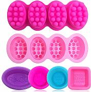 6 pz Soap making Molds, silicone FineGood Massage